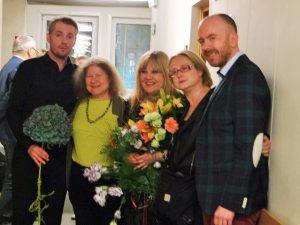 Premiera Winterreise Studio Lutosławskiego 28.09.2015 od lewej:Karol Kozłowski, Dorota Szwarcman, Jolanta Pszczółkowska-Pawlik, Anna S.Dębowska, Robert Kamyk